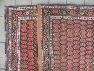 Antique nw Persian rug, 100x273 cm