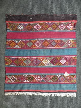 Antique Anatolian kilim fragment, 95x105 cm