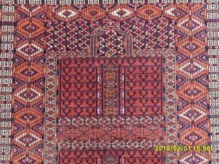 Antıque Türkmen Ensi Prayer Carpet size: 145x120 cm.