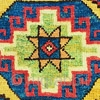 Yellow ground long rug with coffered Memling guls