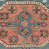 """Sumakh rug with diamond medallions Northeast Caucasus, Kuba area circa 1830 253 x 230 cm (8'4"""" x 7'7"""")  Alg 1814 weft wrapping in wool on a wool foundation What distinguishes this sumakh flatweave are the gem-like quality  ..."""
