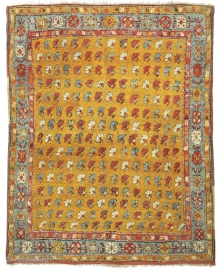 Yatak with stylised carnations