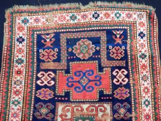 Antique Karacop Kazak Rug Fragment