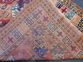 Old Kouchan Kurdish Rug  size.250x150 cm