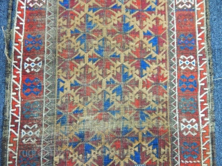 Antique Basluch Rug