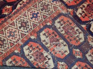 Antique Turkmen Chodor Rug Fragment  size.140x105cm