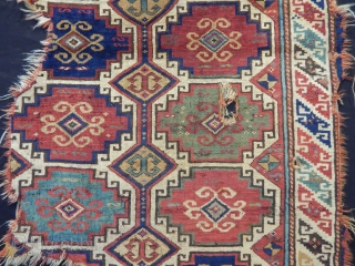 Old Zakatala Magon Rug Fragment