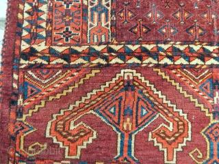 Old Turkmen Yamut Ensi  size.170x160cm