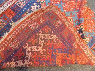 Antique East Anatolian Rug Fragment  size.120x110cm