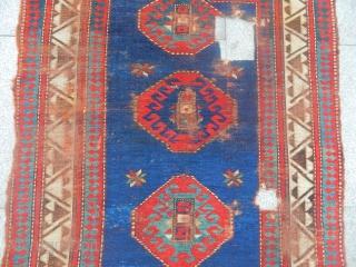 Old Borjalı Prayer Kazak Rug