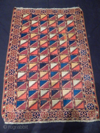 Old Turkmen Kızılayak Small Rug