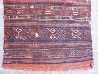 Antique West Anatolian Yüncü Kilim Chuval Face