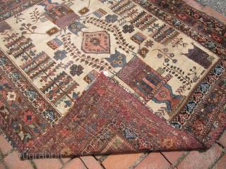 """antique afshar rug good condition 4' 5"""" x 5' 5"""" needs cleaning rare rug. SOLDDDDDDDDDDDDDD"""