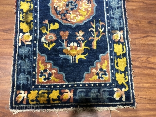 Chinese Ningxia rug, size 100*56cm. Complete one, good age.
