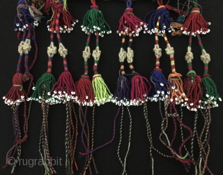 Central-Asia A beautifull from Afghanistan Double-sided Ethnic Silk Embroidery Talismanic Amulet with beads. Great condition ! Circa - 1920 - 30 Size - Lenght : 55 cm - Height : 33 cm  ...