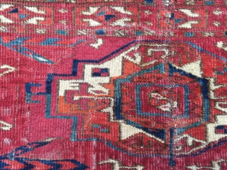 Antique Tekke 6 Gul torba mid 19 c or before.