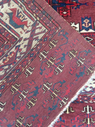 Great early 19 c Kepse Gul yomud carpet in good condition no repairs 