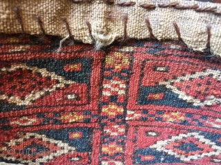 Rare antique  Tekke Turkmen chanteh size bag 29 x 17 cm