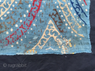 Genuine Kaitag embroidery from Daghestan  104 x 55 cm.   as old as they come 18 c ? If any are this one is.  Few old patches