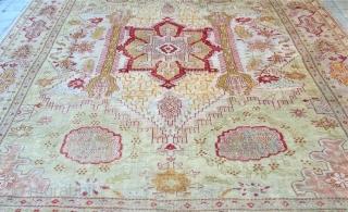Beautiful Anatolian Ushak fragment Rug Size.400x310 Cm good conditions need very small repair