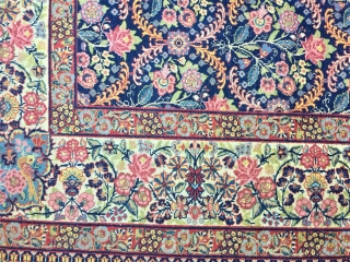 antique kirman circa 1910 good condition Beautiful design size:477x333 cm