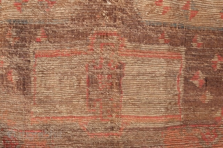 A mysterious and unique rug from Eastern Anatolia. Cm 210 x 91. Great Colours.