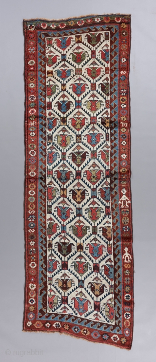 "An early Kurdish runner.  All original and in great condition. Gorgeous wool and colors. 10'1"" x 3'3"". 