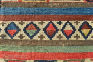 "Shirvan Kilim. Wonderful colors. 10' x 4'9"""