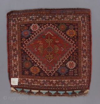 A great Qashqai bag.Colors that are second to none. Softest wool. Fine weave. Red wefts. Great condition. 2' x 2'.