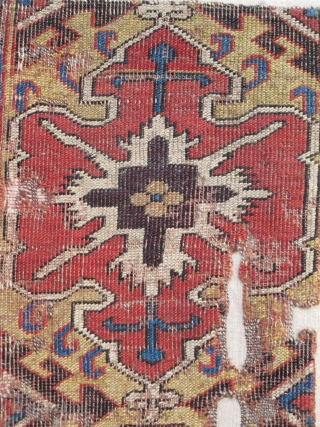 17th century Caucasian Border Fragment representing a cartouche type originating from classical Northwest Persian examples. This piece was sold at Sotheby's New York as lot 73 of the sale, 'Turkmen and Antique  ...
