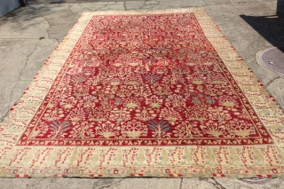 ANTIQUE JAIL AGRA, 1880's, 16'8 x 11'7 or 514 cm x 359 cm , ANTIQUE END OF 19 CENTURY ORIGINAL AGRA CARPET
