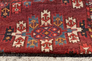 ANTIQUE TURKMEN COLLECTORS RUG, 1870's