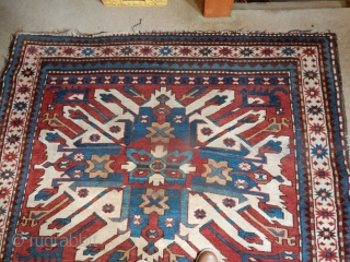 EAGLE KAZAK IN VERY GOOD AS FOUND CONDITION AND GOOD SIZE- 62 X 80 INCHES. 