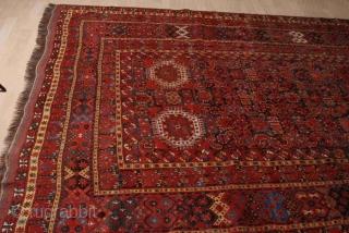 Antique turkmen Beshir rug, original, very good condition  244 на 445 cm  8 ft. x 14 ft. 7 inch