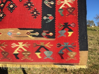 Sarkoy kilim. Cm 260x600 c. Second half 19th century. Wonderful natural colors. Great pattern great borders. In great condition.