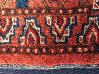Turkmen Ersari khorjin bag face. Cm 46x56. Good age, good colors, good pattern. Full pile, good condition.