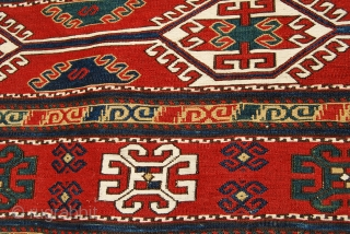 """Karabagh Sumack Mafrash. Complete. Mint condition. Great age. Great saturated colors. Wonderful design. More pics on rq. Last chance to own such a wonder! An almost identical piece appears in """"Sumack bags""""  ..."""