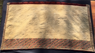 Turkmen Beshir mina khani pile cuval. Cm 100x180 ca. Imo early 20th c or slightly earlier. Complete, huge size, very tight weave, very heavy, great colors, see the super yellow!, good condition  ...