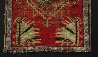 Kirsehir yastik - cm 52x68 - sweet piece datable to the first quarter of the 20th century, or earlier -both ends with a few lines missing - some wear in the center  ...