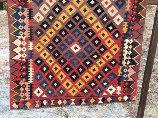 Maimana kilims. Two lovely ones, big, colorful, natural dyes, in good condition. Please ask for more infos, size, etc. See one of them here: http://rugrabbit.com/node/129926