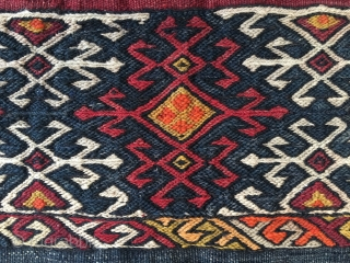 Coarse, wild, tribal East Anatolian cuval. Cm 110x115 ca. Early 20th c. Not exp.