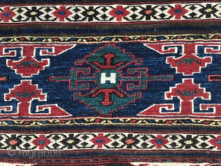 Eagle Shahsavan sumack mafrash long panel. Cm 45x105 ca. Late 19th c. Great Eagle pattern. Wonderful, saturated natural colors. In very good condition. Detailed weaving.