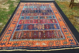 """Reshwan tribal group. Antep, south-east Anatolia. Cm 105x180 ca. Late 19th century. Incredibly beautiful natural dyes. In very good condition, tiny areas with low pile. Good luck/long life rug filled with """"hayat  ..."""