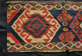Kazak Bordjalu kilim mafrash long panel. Cm 50x100 ca. Lovely colors, antique, good conditions, with minor issues..