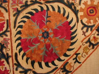 """Suzani Embroidered Mihrab Panel. Uzbekistan, Late 19th century. 8'2"""" (98 in) x 5'4"""" (64 in). All natural dyes, no repairs and in excellent condition. Additional images available upon request. Please goto profile  ..."""