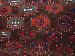 Antique Yomut Turkmen main carpet, late 19th century. www.knightsantiques.co.uk Size: 262 x 146cm.