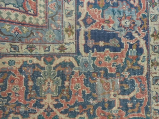 Persian Tabriz, early 20th century, 8-8 x 11-10 (2.64 x 3.61), rug is clean, even low, original ends and edges, soft palette, no rot, breaks or holes, plus shipping.