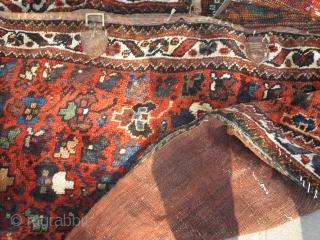 Antique Qashqaee mafrash with pile   P.O.R
