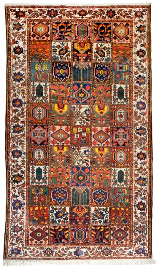 Bakhtiar Chahal Shotur kisthti , wool on cotton, ca; 395 x 215 cm.  thick, yes, thick, massive ,high piled ,(  Seee also ; P.R.J.Ford.)  weighing in over a 25  ...