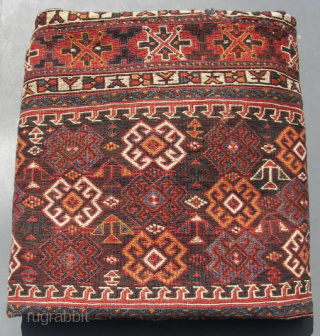 "Luri, ( Kurdish, Bakhtiar ) piled all woolen rug,and some goathair. ca; 320 x 125 cm . Good overall condition. Ca; 1900-50. Some  Kurdish ""chicken ""in the main field. A main  ..."